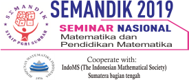 Nasional Seminar on Mathematics and Mathematics education 2019